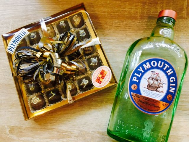 Advent Calendar of Plymouth Gin Truffles