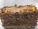 Dulce de Leche Caramel Brownie Layer Cake