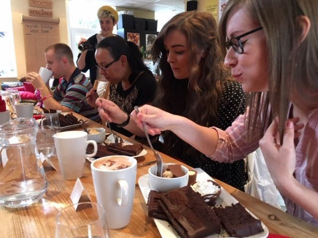 The Chocolate challenge at Chocaccino #plymouthchocolatechallenge