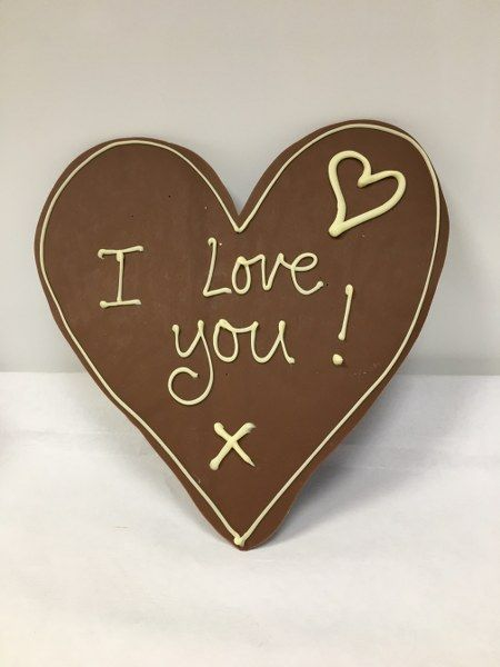Personalised Chocolate Message Heart